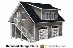 DIY 2 Car Garage Plans - & Garage Plans - shed plans with loft. DIY 2 Car Garage Plans - & Garage Plans - shed plans with loft. Garage Apartment Floor Plans, 2 Car Garage Plans, Garage Plans With Loft, Shed With Loft, Loft Plan, Garage Apartments, Garage Ideas, Diy Garage, Garage Storage