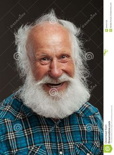 Old Man With A Long Beard Wiith Big Smile Stock Photo - Image: 44441135