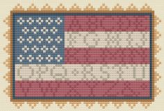 Americana Sampler Flag Free Cross Stitch Pattern