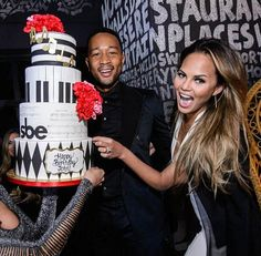 John Legend Celebrates Birthday with wife Chrissy Teigen at Foxtail Nightclub inside SLS Las Vegas on Jan 3, 2015 (Photo credit: Powers Imagery)