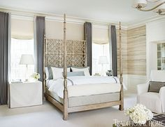 Master bedroom- cream, ivory, and gray.