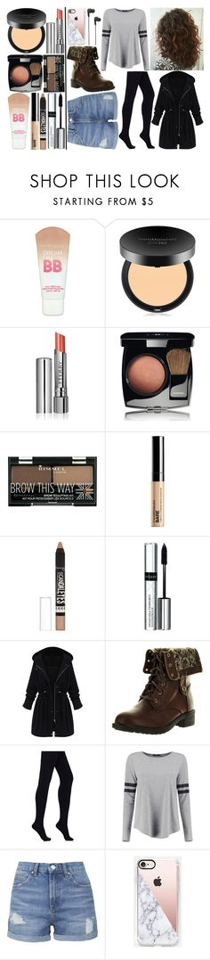 """""""Miss Peregrine's Home For Peculiar Children Before the loop"""" by sofia-rose-gionomo ❤ liked on Polyvore featuring Maybelline, Bare Escentuals, By Terry, Chanel, Rimmel, WithChic, Refresh, Wolford, Boohoo and Topshop"""