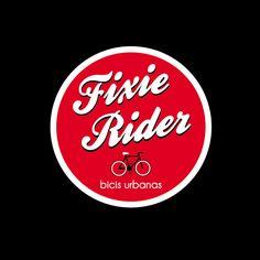 Logo Fixie-Rider. Bicis urbanas y accesorios.