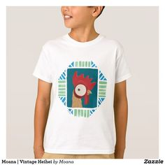 Moana   Vintage Heihei. Customizable product available in Zazzle store. Producto personalizable disponible en tienda Zazzle. #camiseta #shirt