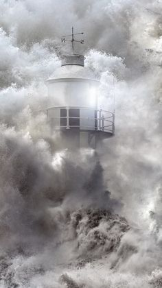 Lighthouse keeper searched :-)) by Jasna Matz Photography Lighthouse Storm, Lighthouse Pictures, Lighthouse Keeper, Stürmische See, Cool Pictures, Cool Photos, Water Tower, Jolie Photo, Ocean Waves