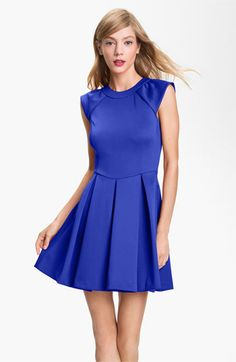 Ted Baker London Pleated A-Line Dress available at #Nordstrom