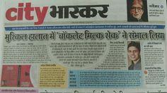 Report in the local newspaper in my hometown - Jabalpur
