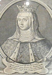 Margaret of Provence (1221 - 1295). Queen of France from 1234 to 1270. She was married to Louis IX and had eleven children.