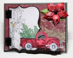 Heartfelt Creations Blog: Christmas Antique Truck - Love the hinges.