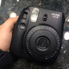 black instax mini 8 matte black Polaroid camera, 60mm, gently used, works perfectly, develops adorable photos instax Other