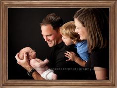 Lovely family photography with newborn baby.
