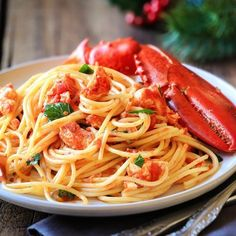 The Best Lobster Pasta Recipe. Lobster With Pasta And Mint Recipe NYT Cooking. The Best Lobster Pasta Recipe. Home and Family Lobster Pasta, Seafood Dishes, Pasta Dishes, Seafood Recipes, Seafood Quiche, Cherry Tomato Pasta, Lemon Pasta, Spaghetti Recipes, Butter