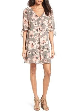 Soprano Jules Split Sleeve Shift Dress available at #Nordstrom