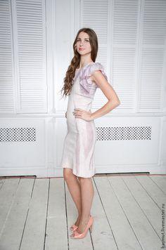 """Валяное платье """"Shabby blackberry"""" - бледно-сиреневый,фиолетовый цвет"""