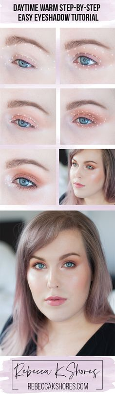 Daytime Warm Step-by-Step  Eyeshadow Tutorial Capsule Makeup Collection A warm eye shadow look, that is very flattering and soft.  If you missed the previous look click here to read the Daytime Easy Step-by-Step Eye shadow Tutorial. This step-by-step tutorial is for someone that wants a soft, warm look, that has to get ready quickly and doesn't want to look overly glam. It's also a great option for those with hooded eyes.