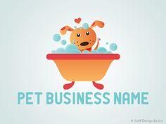 Ultra cute and colorful pet grooming logo design idea. I #PreMadePetLogo  I #ReadyMadePetLogo I #PetBusinessLogo I #PetLogoDesign  I #PetGroomingLogo I #DogGroomingLogo I #PetGroomerLogo I #CuteDogLogoDesign I #ColorfulLogoDesign I #SniffDesignBasics