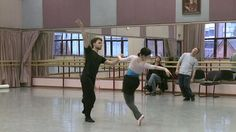 Birmingham Royal Ballet - Aladdin early studio rehearsals; Momoko Hirata and Alexander Campbell