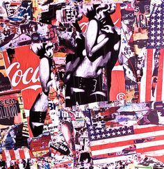 Coca Cola, USA, Street Art, Pop Art, Collage, Affiche, Jeff Callec