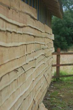 Rustic Wooden Cedar Cladding Shed Workshop refurb