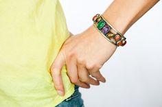 vintage Bracelet/ colorful moroccan style bracelet by DevikaBox, $71.00