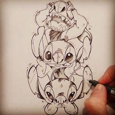 Sketch of the day les singes de la sagesse revisité 🙈🙉🙊 Sketch of the day reads the sagas revision 🙈🙉🙊 Cute Disney Drawings, Disney Sketches, Cartoon Drawings, Art Sketches, Art Drawings, Disney Stitch Tattoo, Disney Stich, Disney Kunst, Disney Art