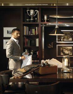 Krieit Associates | Bespoke Interiors Interior Design Tips, Best Interior, Interior Decorating, Dark Interiors, Office Interiors, Man Office, Home Office, Mood Images, Study Design