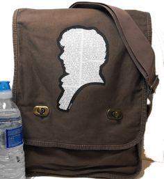 BBC Sherlock Messenger Bag  Field Style  for by BagChemistry, $33.00