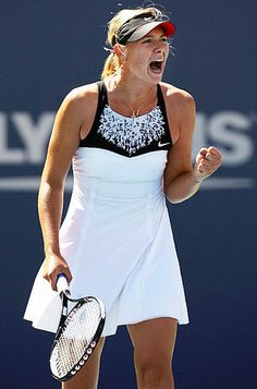 Maria Sharapova white dress for US Open 2007