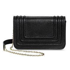 Women's Tailored Crossbody Handbag - Black