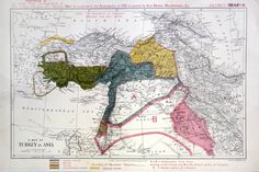A map attached to the secret Sykes-Picot agreement of 1916 divvied up the Middle East...