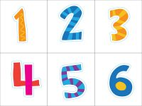 FREE number cards are great for all sorts of math activities!