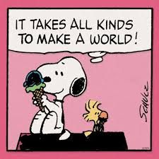 Snoopy & Woodstock - It takes all kinds to make a world