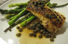 Mahi-Mahi with Lemon Caper Sauce   It's a super simple fish recipe that's incredibly easy to cook, and even easier to pair with a healthy side of broccoli or asparagus.