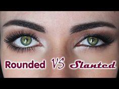 How To: Rounded Eyes VS Slanted Eyes | MakeupAndArtFreak - YouTube