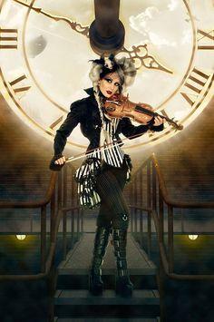 carnivale queen - burlesque steampunk tie on show bustle Moda Steampunk, Steampunk Couture, Victorian Steampunk, Steampunk Clothing, Steampunk Fashion, Steampunk Wedding, Steampunk Circus, Victorian Costume, Burlesque