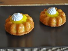 Recette mini savarins façon tarte citron meringuée, cuisinez mini savarins façon tarte citron meringuée