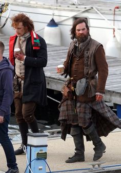 In pictures: Outlander stars film end of first series in Scottish town Troon - Scotland Now - #Outlander #Starz with Sam Heughan and Duncan LaCroix