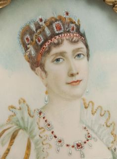 Another possibly carnelian and pearl tiara worn by Josephine, or at least thought so by the painter