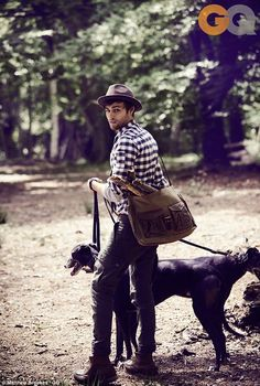 What a Romeo! Douglas Booth gets hearts aflutter as he models in a countryside…