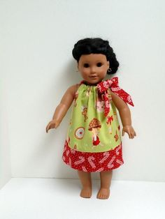 18 inch Doll Clothes Angel Cakes Christmas Pillowcase Dress 15 inch Doll Clothes - http://www.babies-clothes.info/18-inch-doll-clothes-angel-cakes-christmas-pillowcase-dress-15-inch-doll-clothes.html