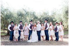 Bidesmaids Groomsmen Cowboy Hats   Chico-California-Wedding-photographer-bridal-party
