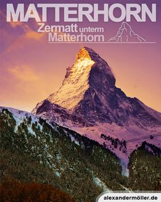Matterhorn in Zermatt Zermatt, Some Beautiful Pictures, Switzerland, Mount Everest, November, Around The Worlds, Travel, Switzerland Destinations, Ski Resorts
