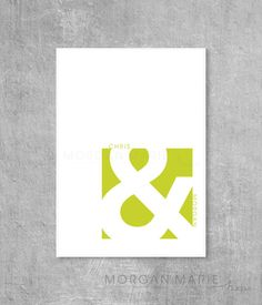 Ampersand 5x7 Print by MorganMarieMakes on Etsy, $10.00