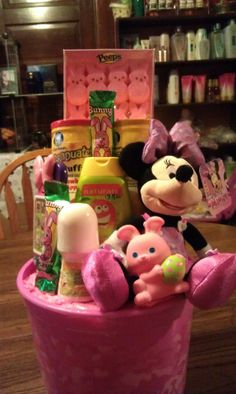 Disney minnie mouse easter basket easter baskets minnie mouse and this minnie mouse basket was a custom easter basket for an eight month old negle Image collections