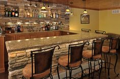 This is terrific!  Ski Lodge Basement, We really enjoy our local ski lodge, so we built it in our basement.  Stone wet bar with dishwasher, hand scraped floor,...