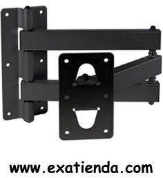 """Ya disponible Soporte pared vesa 23 63"""" articulado   (por sólo 58.95 € IVA incluído):   -Fonestar STV-672 BRAZO PARA SOPORTE NEGRO -Soporte metálico de pared para soportes de TV/monitor plasma y TFT/LCD. Para utilizar con los soportes mods. STV-654P, STV-654N, STV-656P, STV-658P, STV- 658N y STV-660P. Para TV/monitor de 23"""" a 63""""(58 a 160 cm) según soporte. -Brazo doble articulado -Orientable horizontalmente 180º -Orientable verticalmente 30º con los mods. STV-654P, S"""