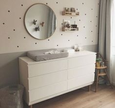 I'm loving the neutral gray in this nursery room. The extra details on the wall . I'm loving the neutral gray in this nursery room. The extra details on the wall and on the floor, makes this a really welcoming room for both parents and child. Baby Boy Room Decor, Baby Room Design, Baby Bedroom, Baby Boy Rooms, Baby Boy Nurseries, Baby Cribs, Nursery Room, Girls Bedroom, Wall Design