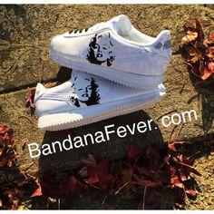 buy popular b5960 eb53d Bandana Fever Marilyn Monroe Print Custom White Nike Cortez Shoes