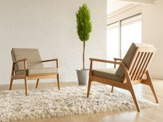 Fahmida Chair | Thos. Moser A bit modern for me, but I appreciate the classic lines.
