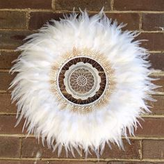 Pure White juju hat feathers art wall decoration designed by dusty treasures home decor